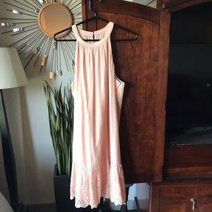 Beautiful blush-colored sundress